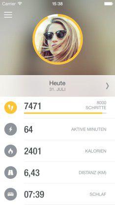 Runtastic Orbit kommt mit einer passenden App für Android-Smartphones und das iPhone