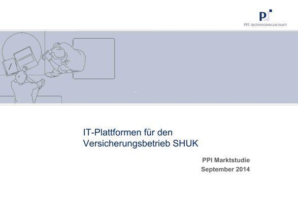 Die PPI-Marktstudie (Preis 1.950 Euro zzgl. MwSt.) untersucht schwerpunktmäßig IT-Plattformen für die Anwendungsbereiche Antrag, Bestand und Schaden. Ihr liegt die ausführliche Befragung von zwölf deutschen Versicherungsunternehmen zugrunde. Insgesamt wurden 21 IT-Systeme ausgewertet. Das Ergebnis ist eine Übersicht über die Anforderungen der Versicherungen und die Lösungsangebote des Marktes.