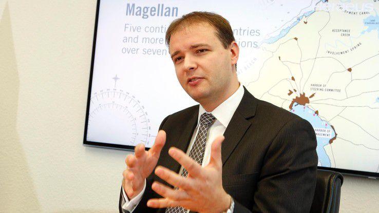 Heraeus-CIO Martin Ackermann stemmt mit rund hundert internen und externen Mitarbeitern das Projekt 'Magellan'.