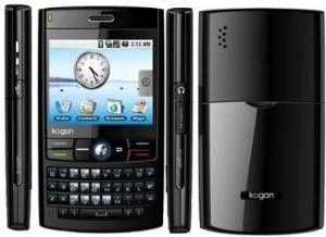 Wirkt leider nicht nur vom Preis her etwas billig: Das zweite Android-Handy Kogan Agora.