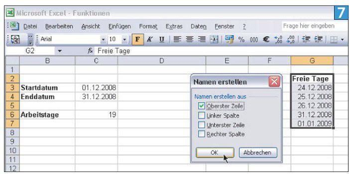 Excel Funktion Nettoarbeitstage Zehn Tipps Excel Für Alle