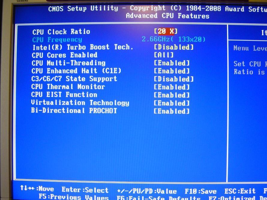 Bild: Im Detail: Im Award BIOS der Gigabyte Mainboard finden sich