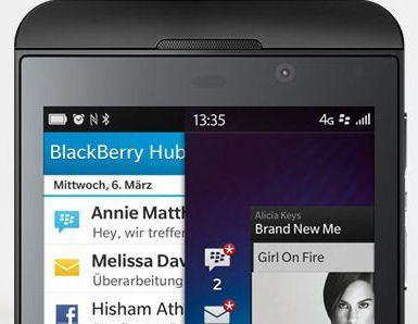 Blackberry Z10 mit Blackberry OS 10