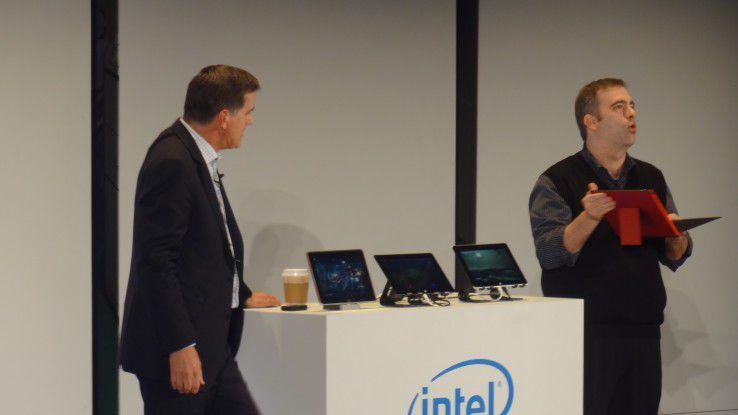 Nächste Atom-Generation: Intel zeigt auf der Computex Tablets mit dem Quad-Core-Atom Bay Trail-T.