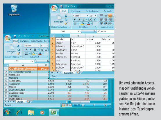 Excel-Tipp: Mehrere Excel-Tabellen anzeigen - computerwoche.de