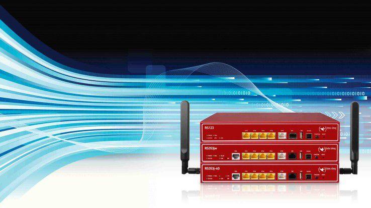 Neue Bintec Router mit dem Kürzel RS353: Geräte unterstützen ultramoderne Übertragungsstandards.