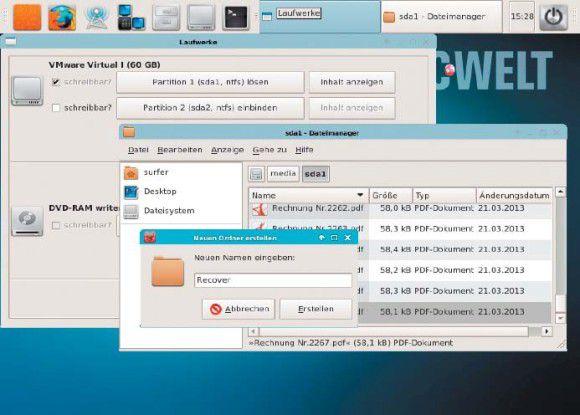 Nach dem Einbinden des Ziellaufwerks in Photorec legen Sie einen Ordner zum Speichern der rekonstruierten Dateien an.