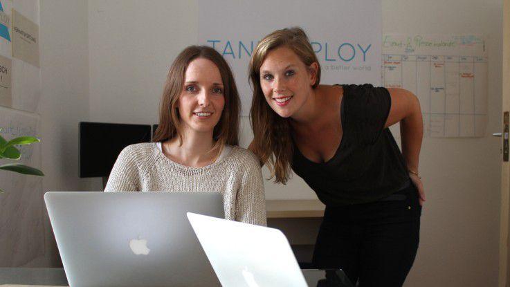 Anna Kaiser (li.) und Jana Tepes (re.) gründeten mit Tandemploy eine Internet-Plattform für Jobsharing.
