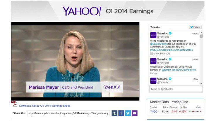 Webcast bei Yahoo
