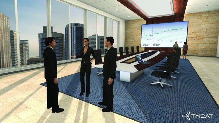Der virtuelle Meetingraum.