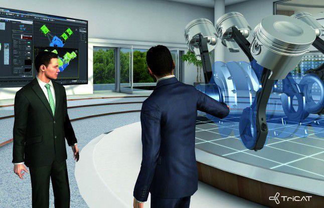 Virtuelle Produktschulung und -präsentation.
