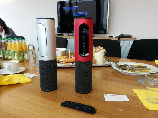 Stylisch: Die neue ConferenceCam Connect von Logitech macht eine gute Figur auf dem Konferenztisch.