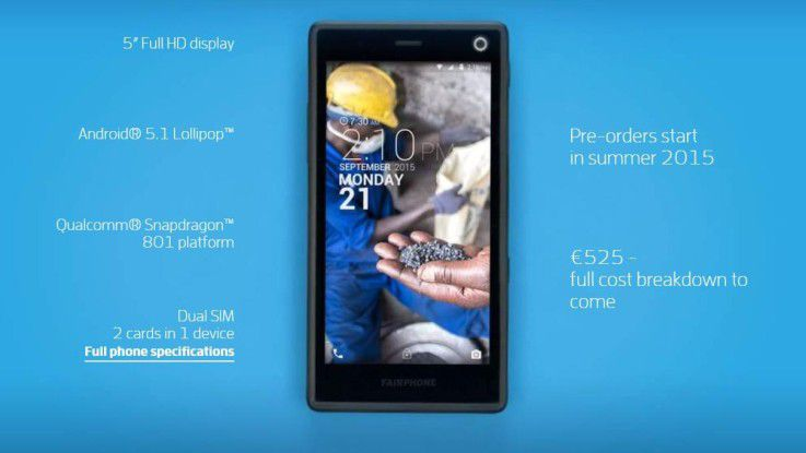 Das Fairphone 2 bietet halbwegs aktuelle Komponenten aus fairer Produktion.