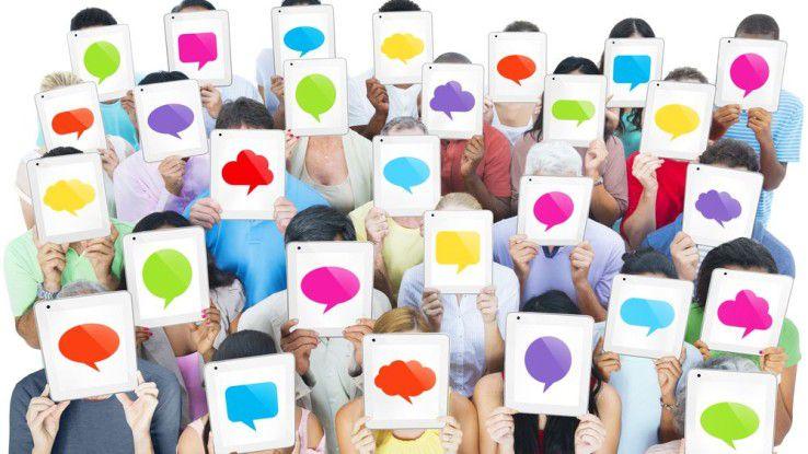 Bei der Kommunikation über soziale Netze sind die Bestimmungen des Datenschutzes zu beachten.