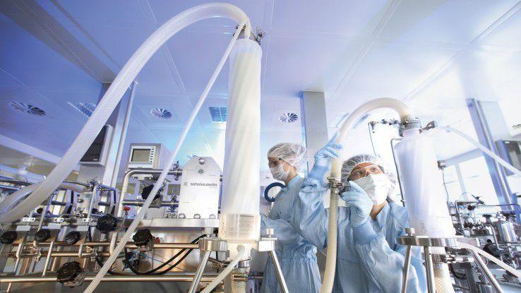 Ein wichtiges Sartorius-Geschäftsfeld ist die professionelle Filtration von Flüssigkeiten.