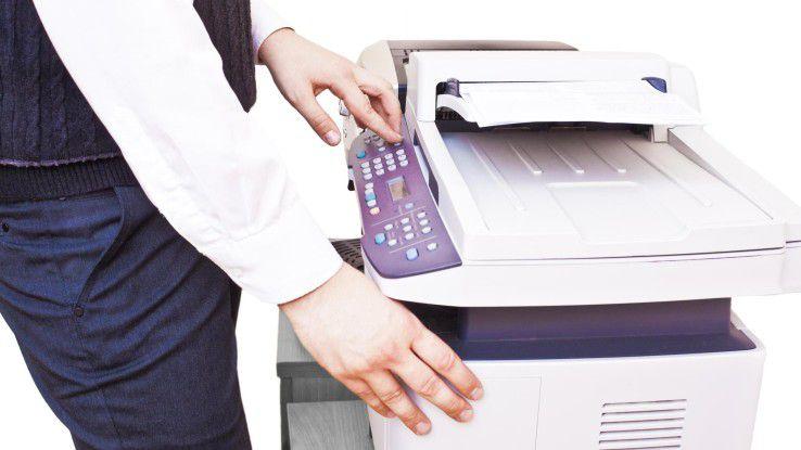 Drucker stellen eine Gefahr für Unternehmensnetze dar - sofern sie ungesichert mit dem Internet verbunden sind.