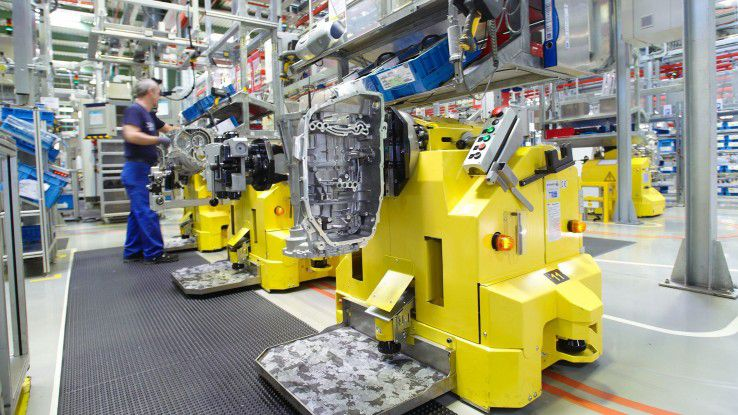 Am ZF-Standort Saarbrücken werden 8-Gang-Automatgetriebe für Pkw gefertigt.