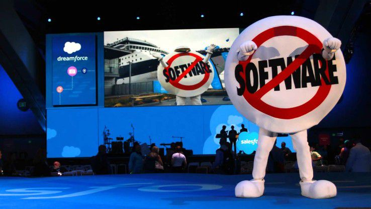 Salesforce-Maskottchen auf der Dreamforce 2015