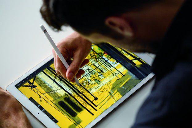 Das iPad Pro wird sofort geliefert, auf den Pencil muss der Käufer ein bis zwei Wochen warten.