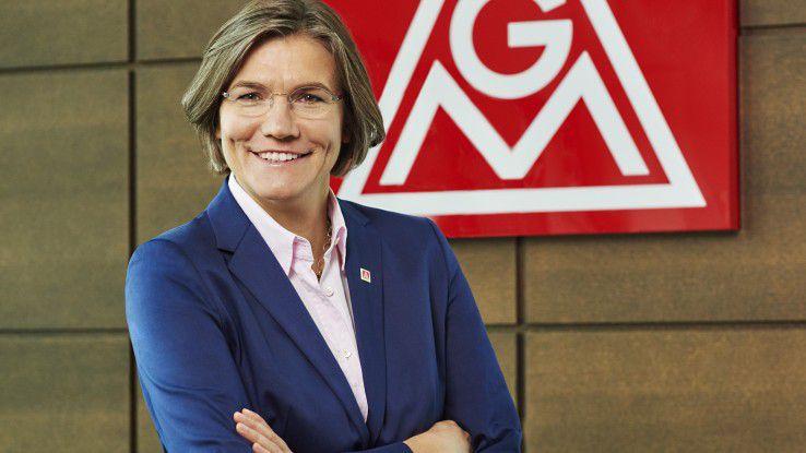 """Christiane Benner, Zweite Vorsitzende der IG Metall: """"Bildung und Qualifizierung müssen deshalb zum Leitmotiv der digitalen Arbeitsgesellschaft werden."""""""