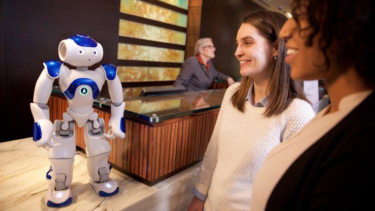 Roboter-Concierge Connie arbeitet im Hilton.