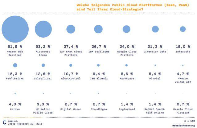 Welche folgenden Public Cloud-Plattformen (IaaS, PaaS) sind Teil Ihrer Cloud-Strategie?