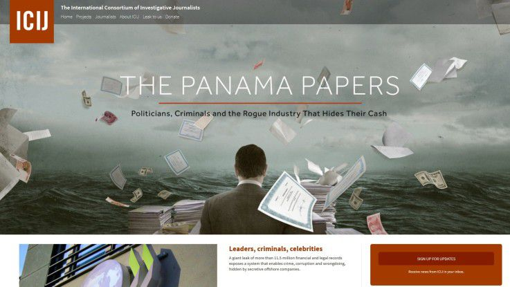Auf seiner Website wird das ICIJ Anfang Mai einen weiteren Scoop bringen - dann sollen die 200.000 panamaischen Briefkastenfirmen für jedermann öffentlich gemacht werden.