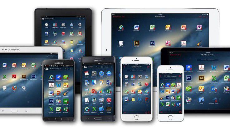 Parallels Access 3.1 ermöglicht den Zugriff auf remote Rechner von einem Smartphone oder Tablet aus.