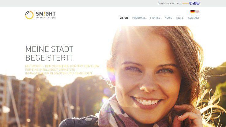 "Mit dem Projekt ""SM!GHT - smart.city.light"" tritt EnBW beim Digital Leader Award in der Kategorie Digitize Society an."