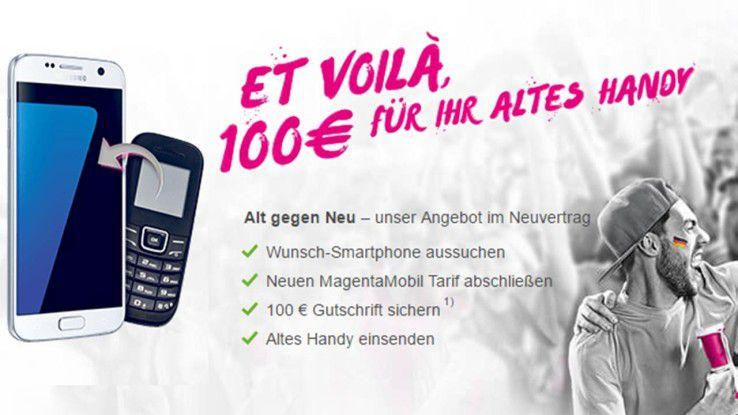 telekom altes handy einschicken 100 euro gutschrift. Black Bedroom Furniture Sets. Home Design Ideas