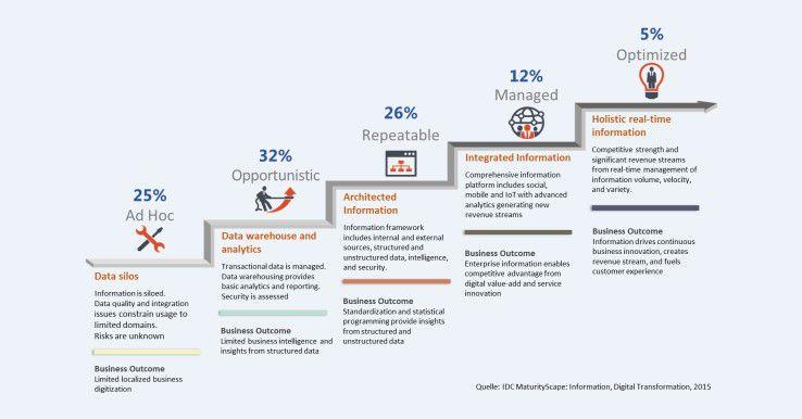 "IDC MaturityScape Digital Transformation: Dimension ""Information"""