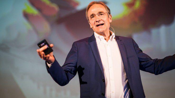 Karl-Heinz Streibich, CEO der Software AG, glaubt, dass sich Deutschland dank der Digitalisierung an der Spitze der der globalen industriellen Entwicklung halten kann.