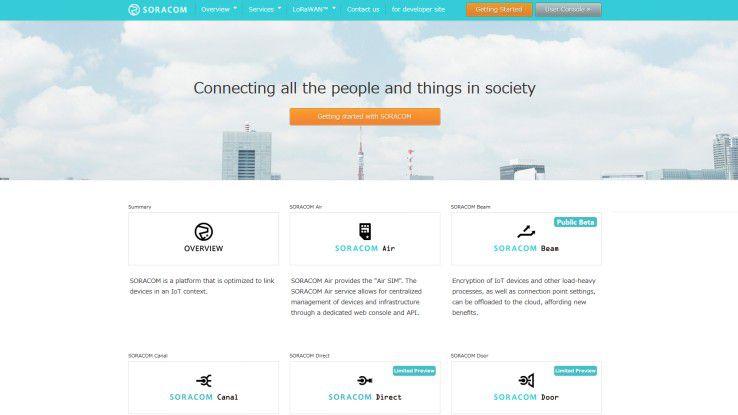 Soracom stellt sogenannte Subscriber Identity Modules für individuelle Devices zur Verfügung, die auf verschiedenen Wegen gemanagt werden können.