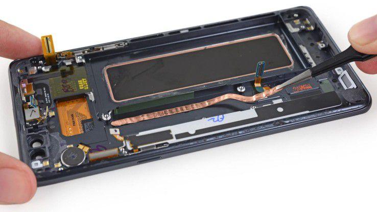 Ähnlich wie Samsung Galaxy S7 und S7 Edge ist auch das Galaxy Note 7 mit einer Heatpipe zur Wärmeableitung ausgestattet.