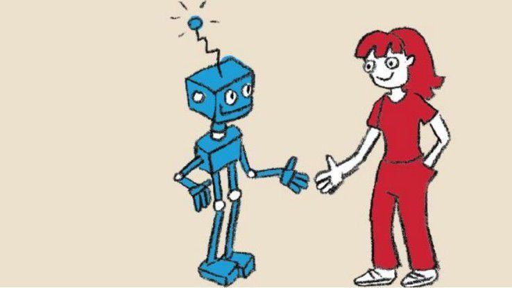 Kompliziert ist Blau, komplex ist Rot: In Arbeit reichen sich das Blaue und das Rote die Hände.