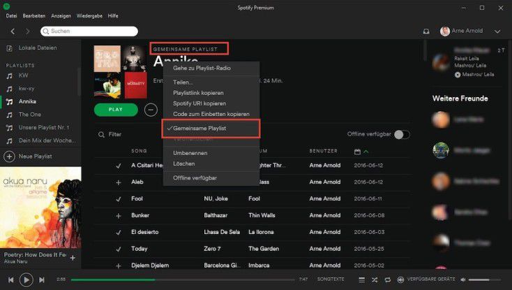 spotify playlist bild ändern
