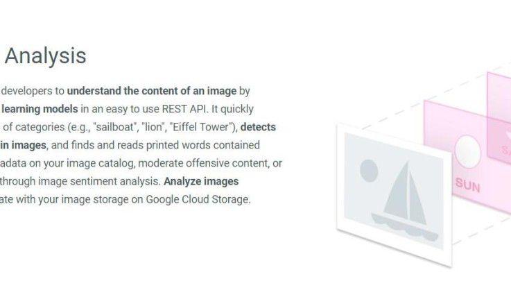 Google Cloud Vision API erkennt und analysiert Bildinhalte mithilfe von Machine-Learning-Modellen.