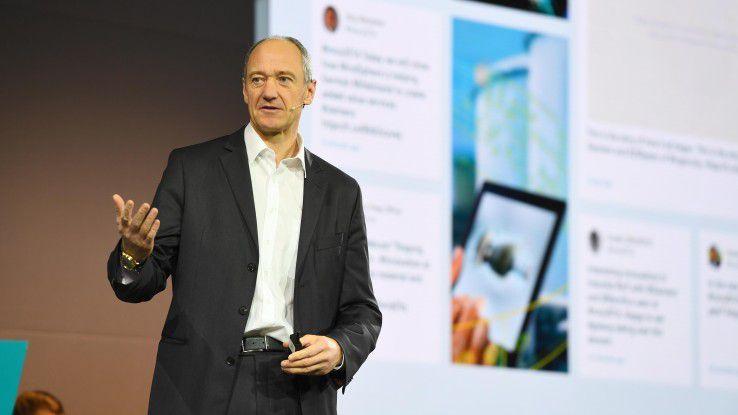 Siemens CTO Roland Busch sieht drei Wchstumsfelder: Electrification, Automatisation, Digitalization.