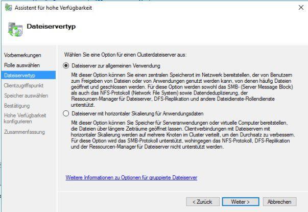 Windows Server 2016 unterstützt mit Storage Spaces Direct auch den Einsatz von Sacle-Out-File-Servern.