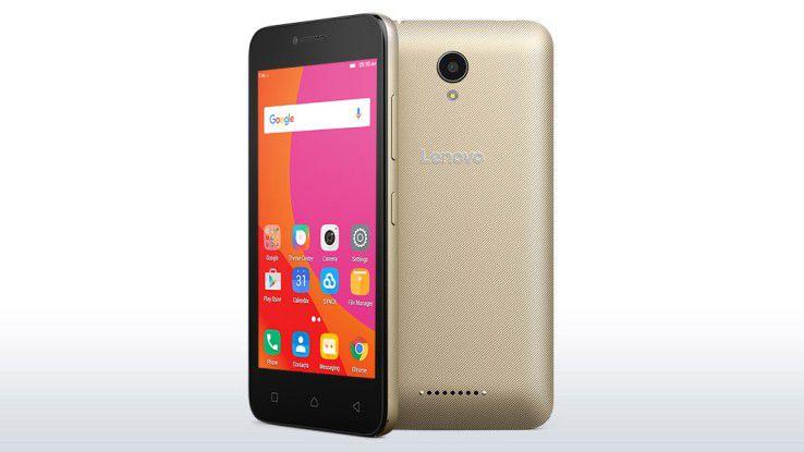 Einfach, aber mit rund 100 Euro sehr günstig: Das Lenovo B