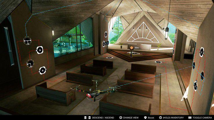 Die Hacking-Puzzles im Game sorgen für Kurzweil. Dabei kommen auch Flug- und Boden-Drohnen zum Einsatz.