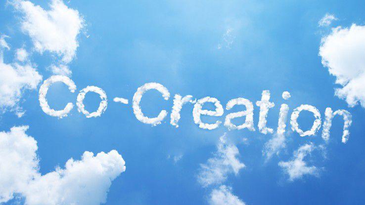 Co-Creation fördert die Zusammenarbeit der Mitarbeiter in Unternehmen unter Social-Media-Gesichtspunkten.