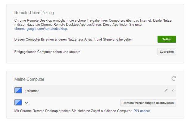 Mit Chrome Remote Desktop können Sie über Google Chrome Windows-Rechner fernwarten.