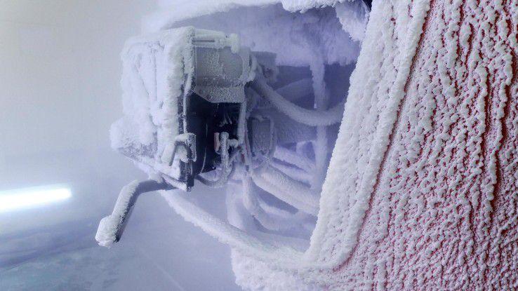 Selbst bei Temperarturen von -40 Grad rollen die russischen Bahnen.