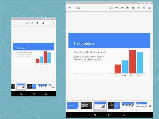 Google Präsentation auf Smartphone und Tablet