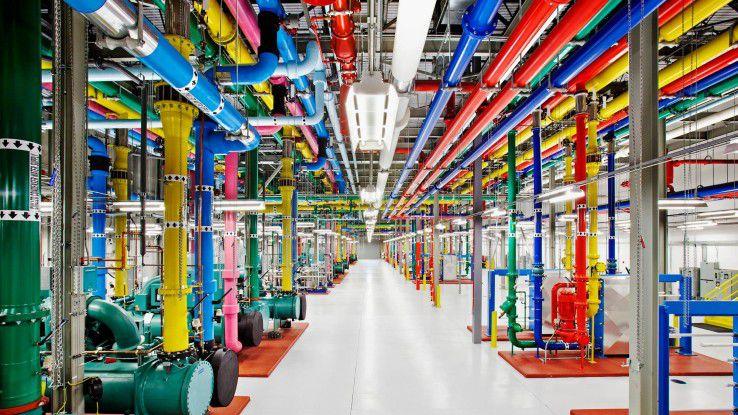Ein Blick in ein Google Data Center in den USA.
