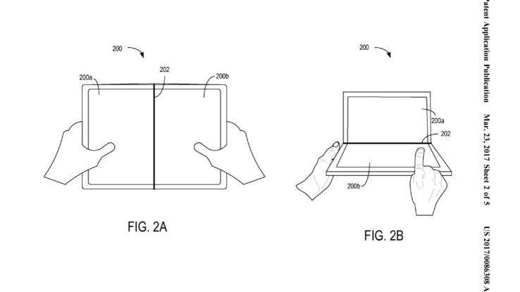 Microsoft-Patent für ein faltbares Display