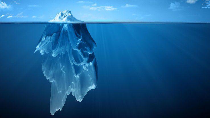 """Das Bild vom """"Daten-Eisberg"""" bemühte auch Frank Böning, Vice President Central Europe bei Splunk: Den größten Teil der Daten kennen und nutzen Unternehmen noch gar nicht, so der Manager."""