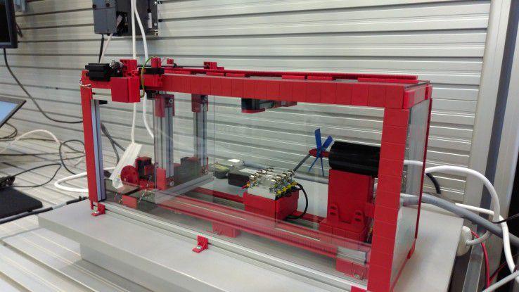 Ein Teil der Prozesskette in der virtuellen Fabrik.
