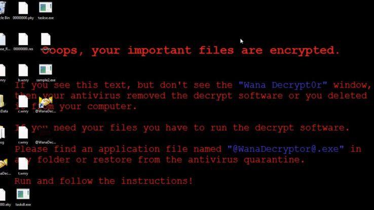 Wannacry: Die Malware beginnt damit, die lokalen Daten zu verschlüsseln.
